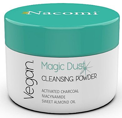 Detox Gesichtsreinigungsspuder mit Aktivkohle, Nicotinamid und süßem Mandelöl - Nacomi Face Cleansing & Detoxifying Powder Magic Dust