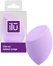 Düfte, Parfümerie und Kosmetik Schminkschwamm violett - Ilu Sponge Olive Cut Purple