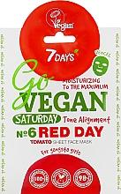 Düfte, Parfümerie und Kosmetik Feuchtigkeitsspendende Tuchmaske für das Gesicht mit Tomaten- und rotem Rübenextrakt - 7 Days Go Vegan Saturday Red Day