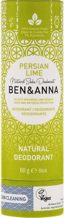 Natürlicher Soda Deo-Stick Persian Lime - Ben & Anna Natural Soda Deodorant Paper Tube Persian Lime