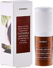 Straffende Anti-Falten Augencreme mit Kastanienextrakt - Korres Castanea Arcadia Antiwrinkle Eye Cream — Bild N1