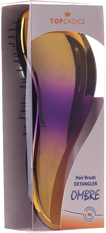 Haarbürste 62179 gelb-violett - Top Choice Detangler Hair Brush