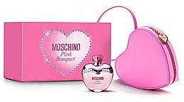 Düfte, Parfümerie und Kosmetik Moschino Pink Bouquet - Duftset (Eau de Toilette 100ml + rosa Herztasche)