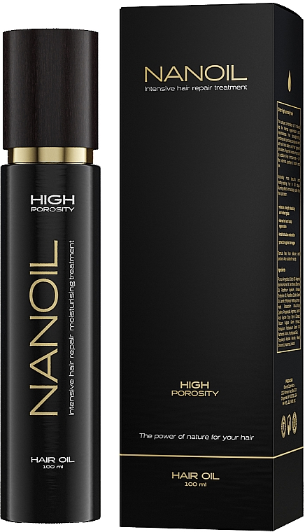 Öl für Haare mit hoher Porösität - Nanoil Hair Oil High Porosity