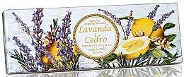 Düfte, Parfümerie und Kosmetik Naturseifenset Lavendel und Zeder - Saponificio Artigianale Fiorentino Capri Lavender & Cedar (Seife 3St. x100g)