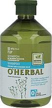 Düfte, Parfümerie und Kosmetik Shampoo für trockenes und strapaziertes Haar mit Flachsextrakt - O'Herbal