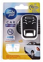 Düfte, Parfümerie und Kosmetik Lufterfrischer-Set Anti-Tabak - Ambi Pur (Auto-Lufterfrischer 1 St. + Refill 7ml)