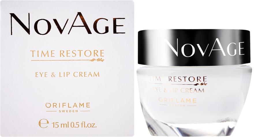 Verjüngende Augen- und Lippenkonturcreme - Oriflame NovAge Time Restore Eye & Lip Cream