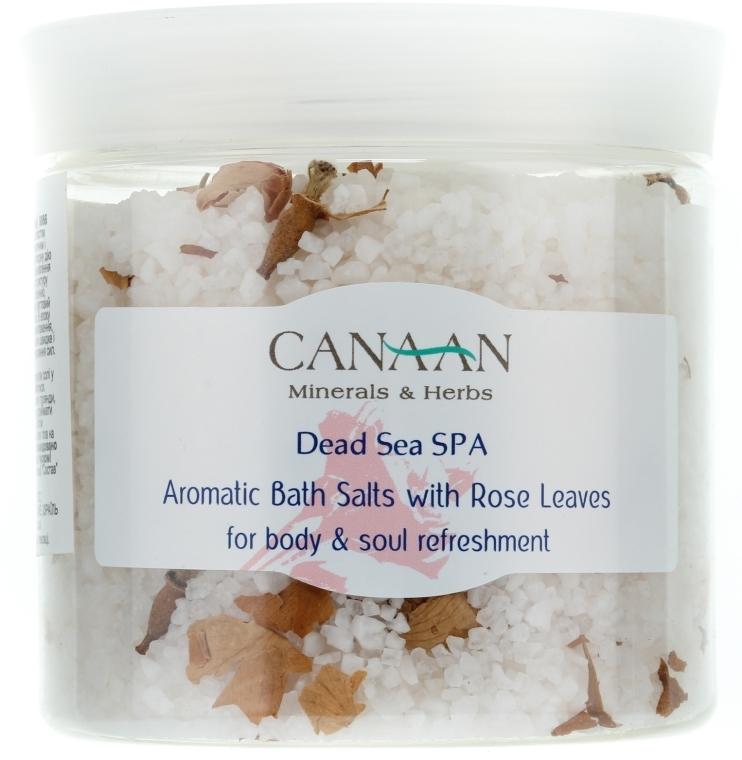 Aromatisches Badesalz mit Rosenblättern - Canaan Minerals & Herbs Aromatic Bath Salts With Rose Leaves — Bild N1