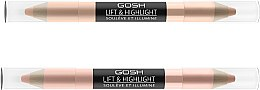 Düfte, Parfümerie und Kosmetik Doppelseitiger Highlighter - Gosh Lift & Highlight