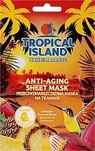 Düfte, Parfümerie und Kosmetik Anti-Aging Tuchmaske mit Ananas und Bananenblüte - Marion Tropical Island Hawaii Paradise Anti-Aging Sheet Mask
