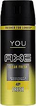 Düfte, Parfümerie und Kosmetik Herren Deodorant - Axe You Energised Deodorant Spray
