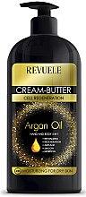 Düfte, Parfümerie und Kosmetik Regenerierendes Körperbutter mit Arganöl 5in1 - Revuele Argan Oil Cream-Butter