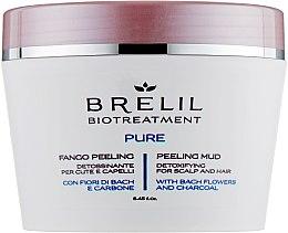 Düfte, Parfümerie und Kosmetik Detox-Peeling für Kopfhaut und Haar mit Bachblüten und Aktivkohle - Brelil Bio Traitement Pure Peeling Mud
