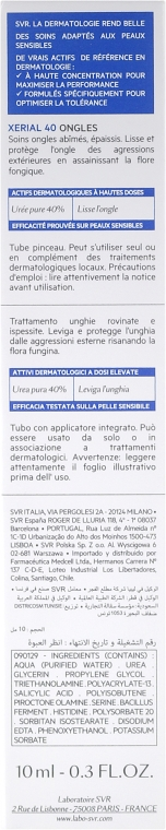 Pflegegel für verdickte und beschädigte Nägel mit 40% Harnstoff - SVR Xerial 40 Ongles Gel — Bild N3