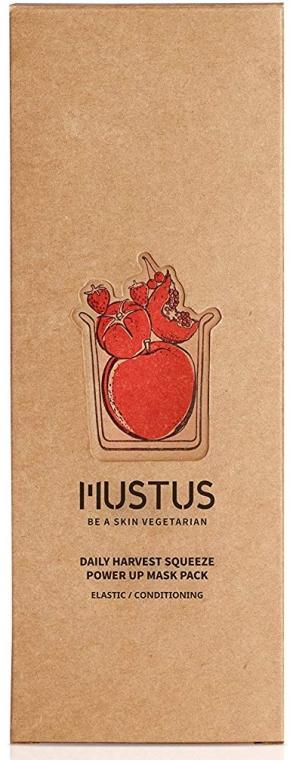 Feuchtigkeitsspendende Gesichtsmaske mit Tomaten-, Apfel-, Erdbeer-, Kirsch- und Granatapfelextrakte - Mustus Daily Harvest Squeeze Power Up Mask — Bild N1