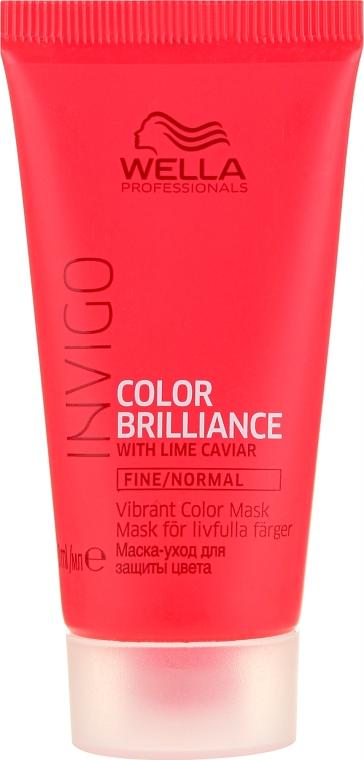 Leichte Haarmaske für feines bis normales, coloriertes Haar - Wella Professionals Invigo Color Brilliance Mask