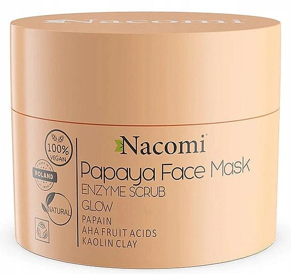 Maske-Peeling für das Gesicht mit weißem Ton - Nacomi Papaya Face Mask Enzyme Scrub