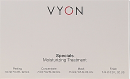 Düfte, Parfümerie und Kosmetik Feuchtigkeitsspendendes Gesichtspflegeset - Vyon Specials Moisturizing Treatment (Gesichtspeeling 10ml + Gesichtskonzentrat 7ml + Gesichtsmaske 15ml + Gesichtscreme 7ml)