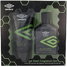Düfte, Parfümerie und Kosmetik Umbro Action - Duftset (Eau de Toilette/75ml+Duschgel/150ml)