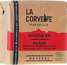 Düfte, Parfümerie und Kosmetik Bio Weichseife Pomegranate - La Corvette BIO Pomegranate With Shea Butter
