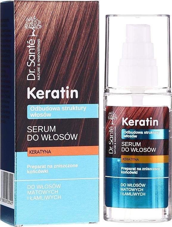 Serum für stumpfes und sprödes Haar mit Keratin - Dr. Sante Keratin