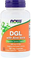 Düfte, Parfümerie und Kosmetik Nahrungsergänzungsmittel DGL 400 mg mit Aloe Vera - Now Foods DGL With Aloe Vera
