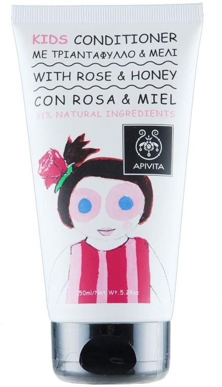 Haarspülung für Kinder mit Rose und Honig - Apivita Babies & Kids Natural Baby Kids Conditioner With Honey & Rose Bulgarian — Bild N1
