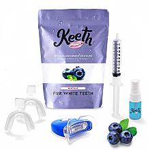 Düfte, Parfümerie und Kosmetik Aufhellendes Zahnpflegeset mit Blaubeergeschmack - Keeth Blueberry Teeth Whitening Kit