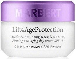 Düfte, Parfümerie und Kosmetik Straffende Anti-Aging Tagespflege für das Gesicht SPF 15 - Marbert Lift4Age Protection Firming Anti-Aging Day Care SPF 15