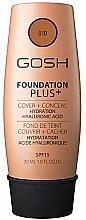 Düfte, Parfümerie und Kosmetik Concealer-Foundation mit Hyaluronsäure, Algen und Vitamin E - Gosh Foundation Plus Cover&Conceal SPF15