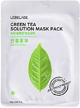 Düfte, Parfümerie und Kosmetik Feuchtigkeitsspendende Tuchmaske mit grünem Tee - Lebelage Green Tea Solution Mask
