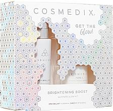 Düfte, Parfümerie und Kosmetik Gesichtspflegeset - Cosmedix Brightening Boost Ultimate Glow Kit (Aufhellendes Serum 30ml + Gesichtskristalle mit Vitamin C 6g)