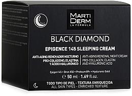 Düfte, Parfümerie und Kosmetik Erneuernde Nachtcreme für das Gesicht mit Prokollagen, Elastin und Hyaluronsäure - MartiDerm Black Diamond Epigence 145 Sleeping Cream