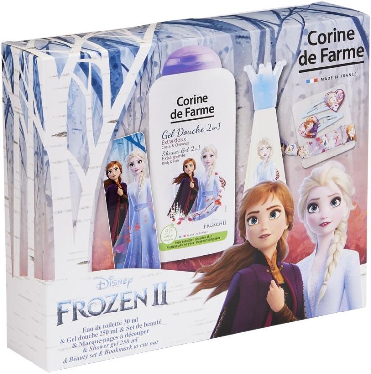 Corine De Farme Disney Frozen 2 - Duftset (Eau de Toilette 30ml + Duschgel 250ml + Zubehör)