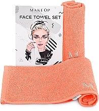 Düfte, Parfümerie und Kosmetik Reiseset Gesichtstücher MakeTravel Pfirsich - Makeup Face Towel Set