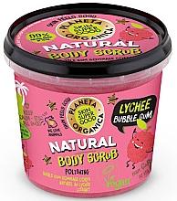 Düfte, Parfümerie und Kosmetik Körperpeeling mit Vanillezucker, Bio-Litschi- und Minzextrakt und Kaugummiduft - Planeta Organica Natural Body Scrub Lychee & Bubble Gum