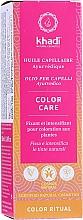 Düfte, Parfümerie und Kosmetik Ayurvedisches farbschützendes Haaröl - Khadi Ayurvedic Color Care Hair Oil