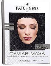 Düfte, Parfümerie und Kosmetik Revitalisierende Tuchmaske für das Gesicht mit Extrakt aus schwarzem Kaviar - Patchness Caviar Mask