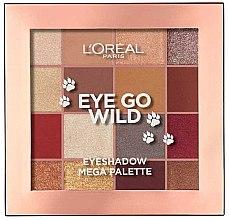 Düfte, Parfümerie und Kosmetik Lidschattenpalette - L'Oreal Paris Eye Go Wild Eyeshadow Mega Palette