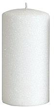 Düfte, Parfümerie und Kosmetik Dekorative Kerze weiß 7x14 cm - Artman Glamour