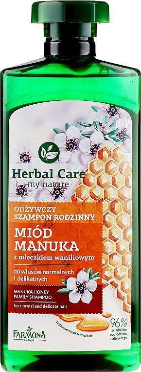 Nährendes Shampoo für normales und feines Haar mit Honigextrakt - Farmona Herbal Care Manuka Honey Family Shampoo
