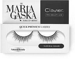 Düfte, Parfümerie und Kosmetik Künstliche Wimpern - Clavier Quick Premium Lashes Natural Beauty 827