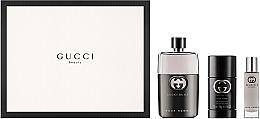 Düfte, Parfümerie und Kosmetik Gucci Guilty Pour Homme - Duftset (Eau de Toilette 90ml + Deostick 75ml + Eau de Toilette 15ml)