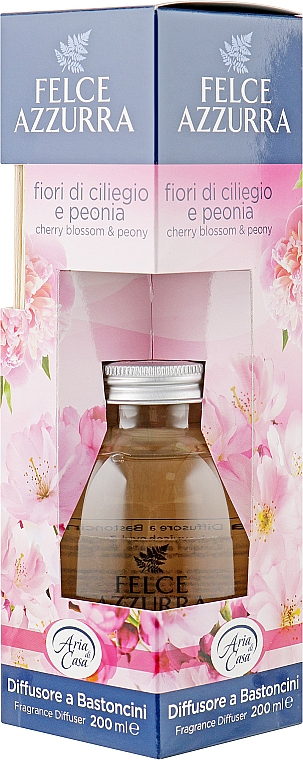 Aroma-Diffusor mit Duftholzstäbchen Kirschblüten und Pfingstrose - Felce Azzurra Cherry Blossoms