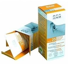 Düfte, Parfümerie und Kosmetik Sonnenschutzcreme mit Granatapfel- und Sanddorn-Extrakt SPF 25 - Eco Cosmetics Suntan Cream SPF 25