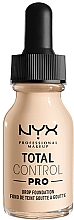 Düfte, Parfümerie und Kosmetik Flüssige Foundation - NYX Professional Total Control Pro Drop Foundation