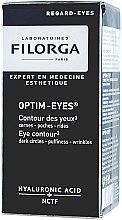 Düfte, Parfümerie und Kosmetik Augenkonturcreme gegen Falten, Schwellungen und dunkle Augenringe mit Hyaluronsäure - Filorga Optim-Eyes