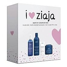 Düfte, Parfümerie und Kosmetik Geschenkset - Ziaja (Körpermousse/200ml + Duschgel/300ml + Gesichtscreme/50ml + Gesichtstonikum/200ml)