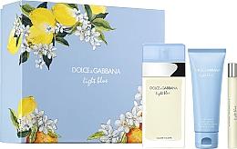 Düfte, Parfümerie und Kosmetik Dolce&Gabbana Light Blue - Duftset (Eau de Toilette 100ml + Körpercreme 75ml + Eau de Toilette 10ml)